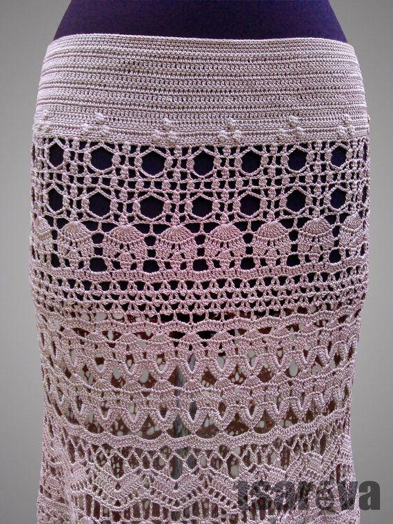 Crochet falda de la señorita. Desierto levantó por TsarevaCrochet ...