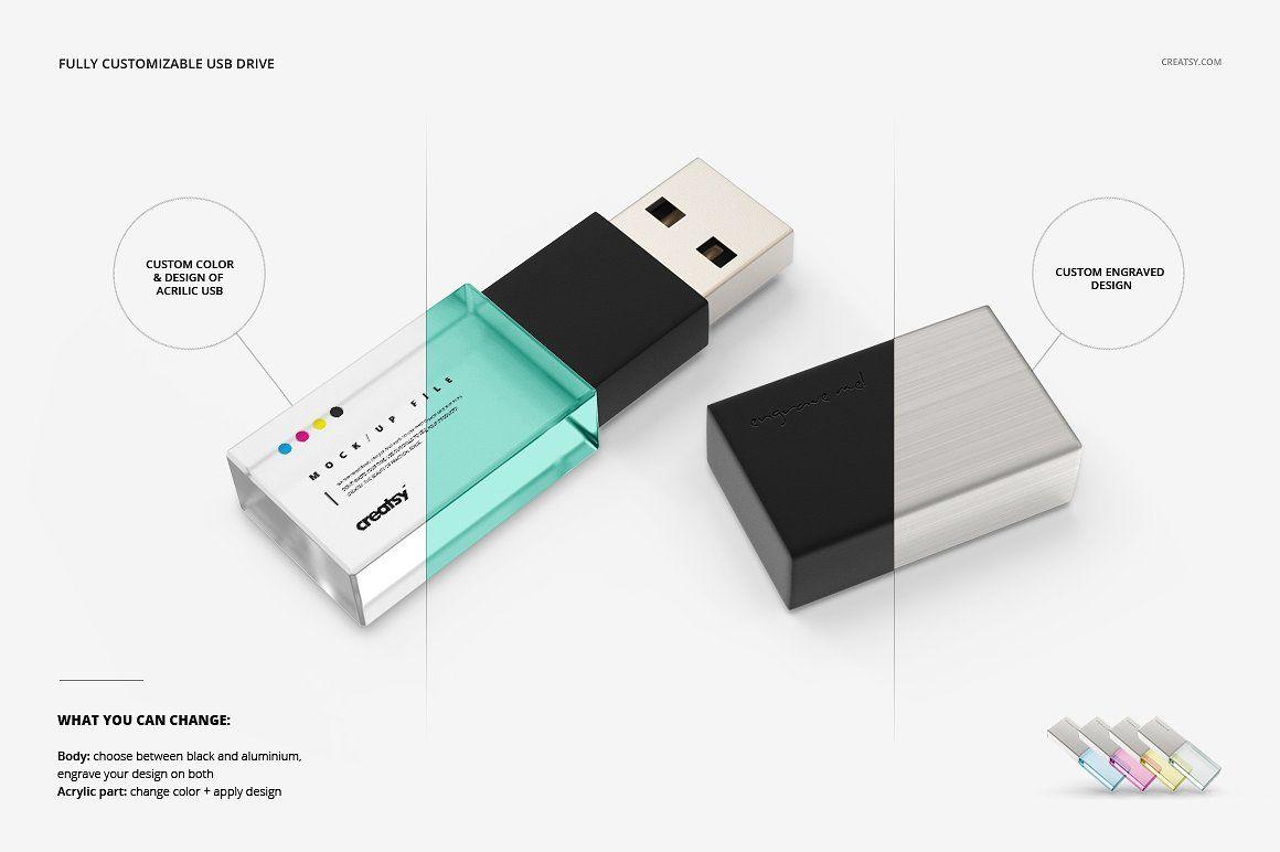 Download Acrylic Usb Drive Slide Box Mockup Slide Box Box Mockup Usb