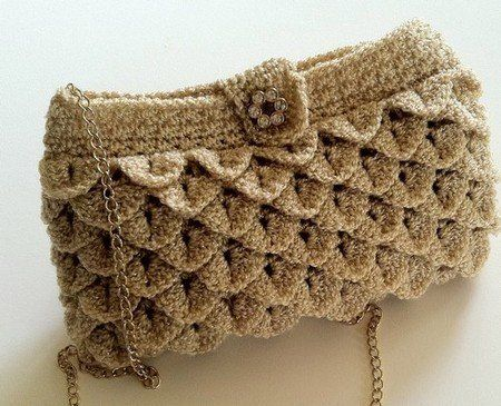 comment faire le point crocodile en tuto et en vid o crochet purses bags crochet purse. Black Bedroom Furniture Sets. Home Design Ideas