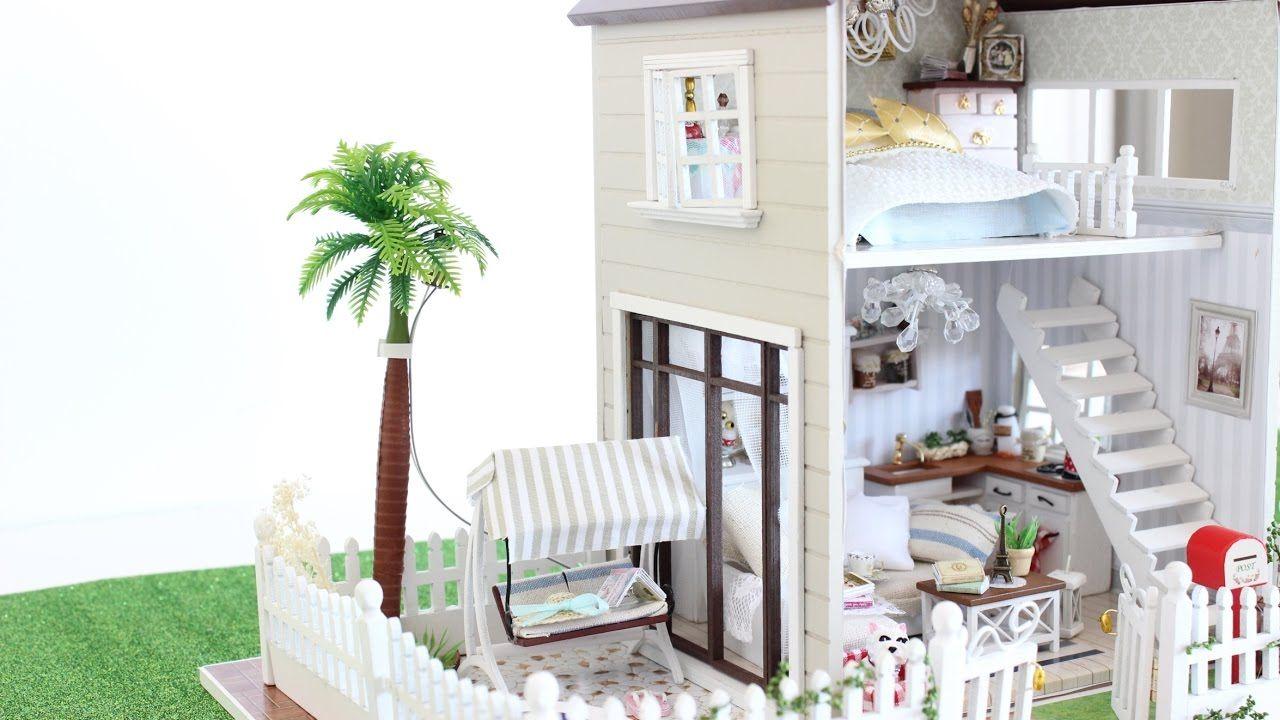 New diy dollhouse paris miniature apartment for 132 dolls