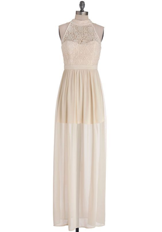 Nwt Modcloth Ark Co Ivory Crochet Lace Maxi Dress Small S Wedding