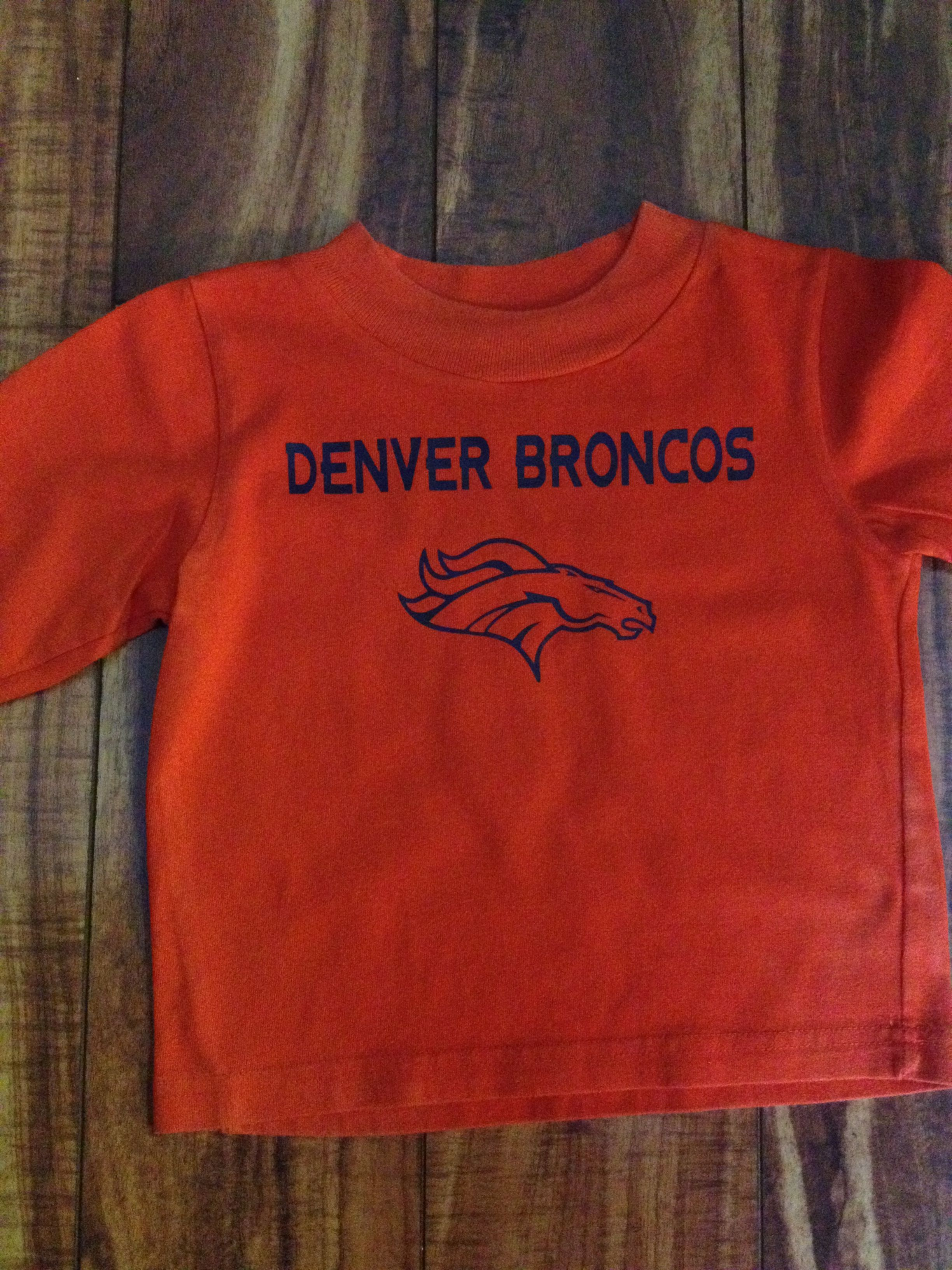 Denver Broncos Shirt My Best Friend And I Made For Her Little Boy Using The Silhouette Cameo And Siser Easyweed Heat Transf With Images Heat Transfer Vinyl Silhouette Cameo