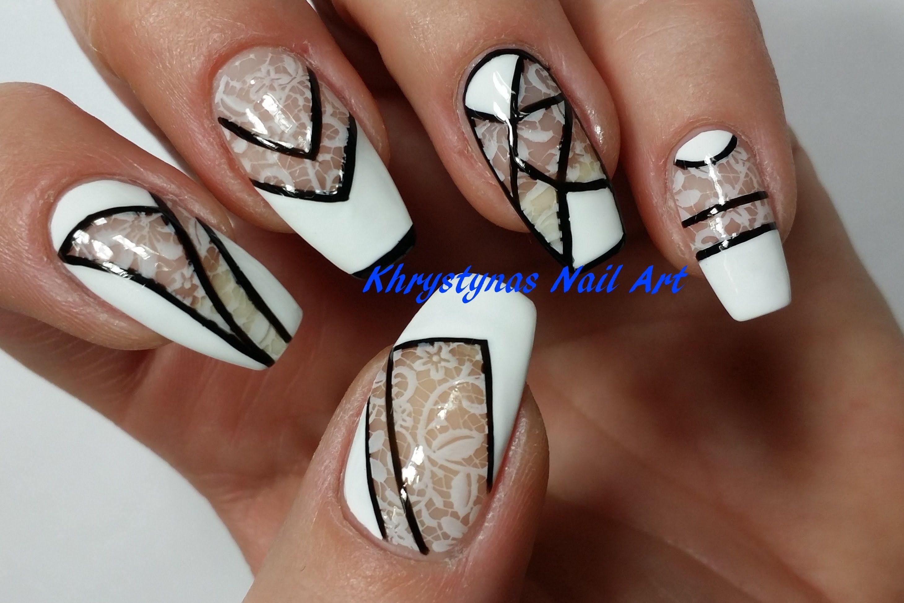 Negative E Nail Art Monochrome Perfect For Short Nails 2