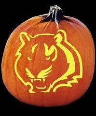 Cincinnati Bengals Pumpkin Carving Pattern | BEngALs....Who DEy ...