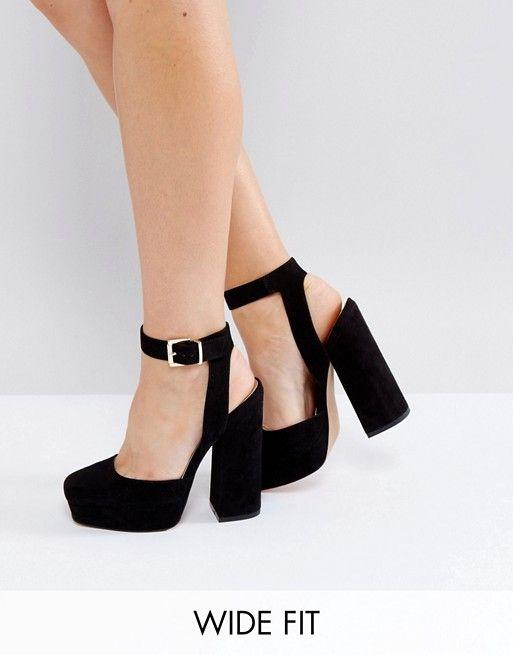 Zapatos de tacón de corte ancho con plataforma PING de ASOS Asos kix5U