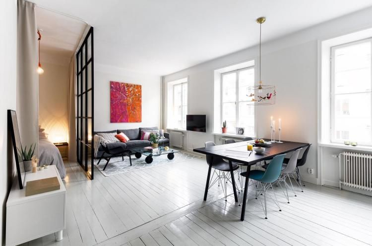 Deko fürs Wohnzimmer im skandinavischen Stil - 38 Bilder