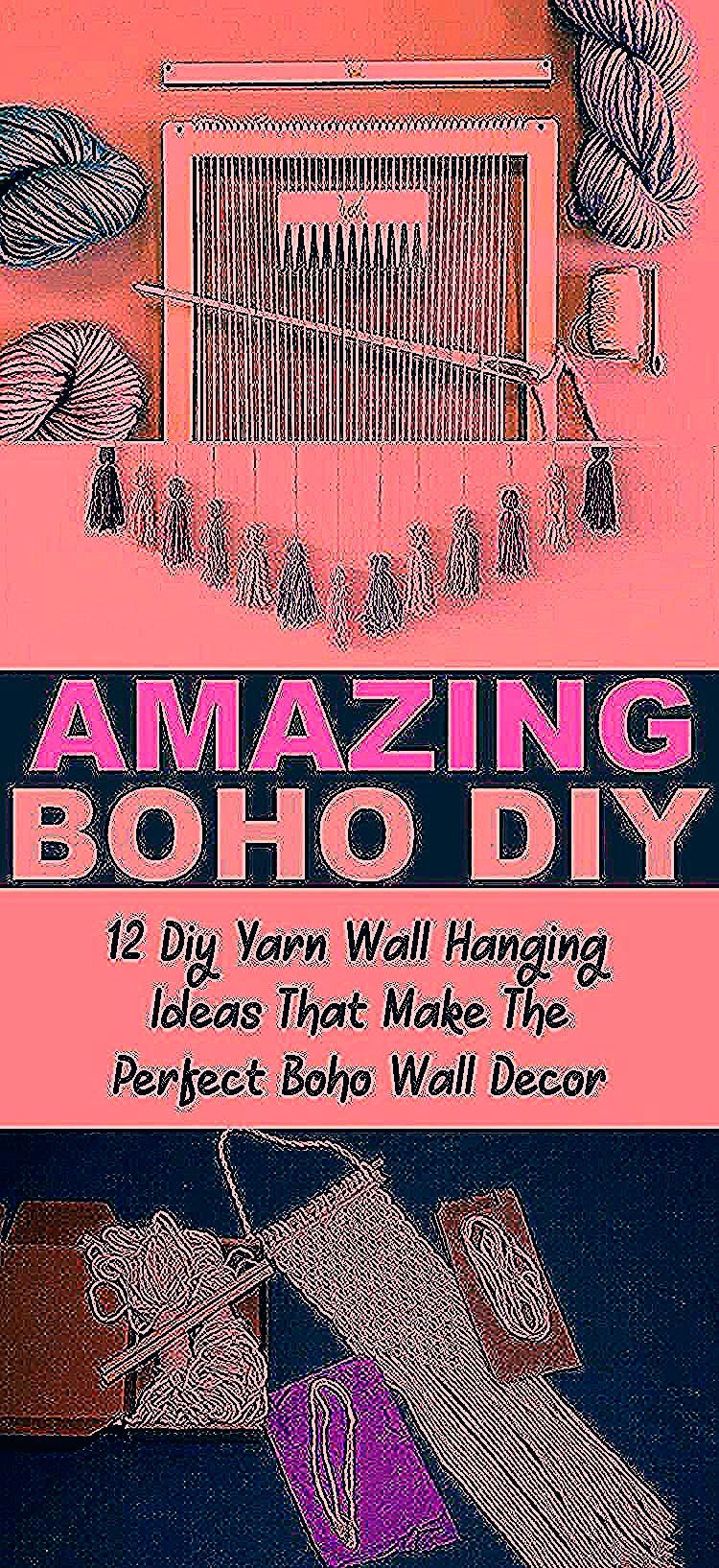 12 DIY boho yarn wall hangings that are easy yarn wall hanging ideas for beginners and make the perfect wall decor for your boho room! #wallhangings #wallart #yarns #boho #bohemian #bedroomdecor #smallspaces #diycrafts #crafts #easycrafts #bohostyle #bohodecorationBabyShower #bohodecorationCandles #bohodecorationUpholstery #bohodecorationHouseplant #bohodecorationJungles