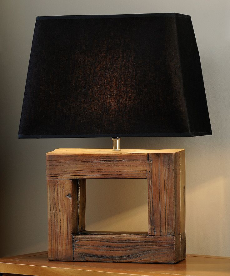Giftcraft Rectangular Frame Wood Table Lamp Id Lights Table Lamp Wood Wood Lamp Design Rustic Table Lamps