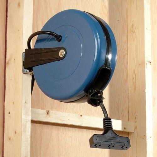 Amazon Com Shop Basics Retractable Cord Reel Home Improvement