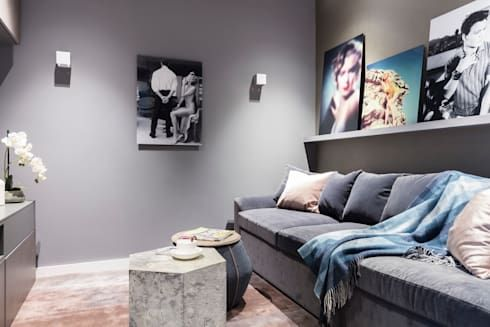 Modern new home in hampstead by black and milk multimedia room by black and milk interior designer in london