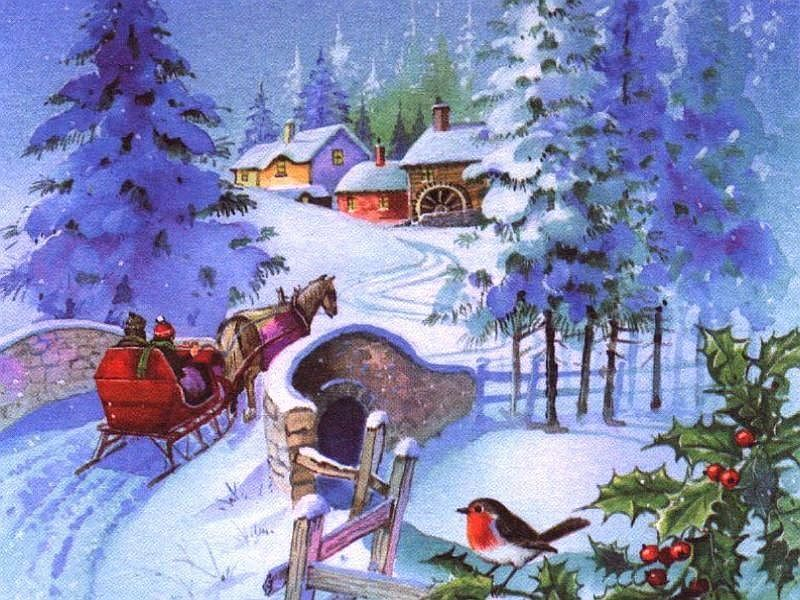 The 50 S Old Time Christmas Wallpaper
