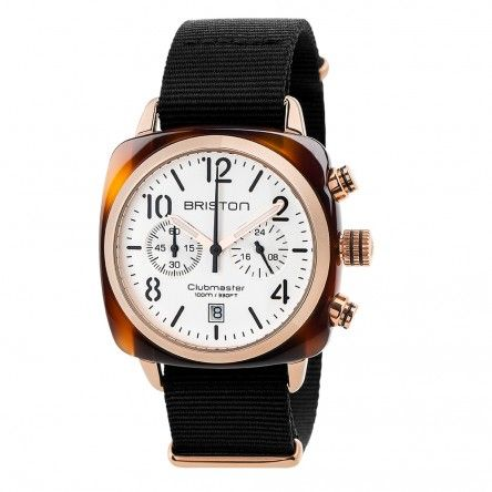 Clubmaster Classic Acetate Chronograph Gold - Rose gold dial