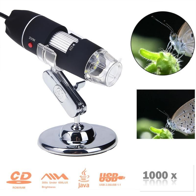 Microscope 8 led magnifier usb gadgets usb microscope