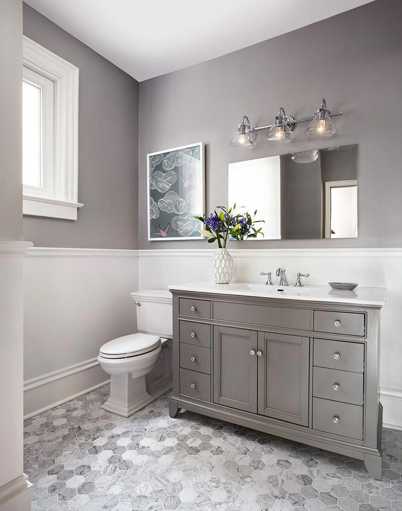 Small 3 Piece Bathroom Makeovers | Chic bathroom decor ...