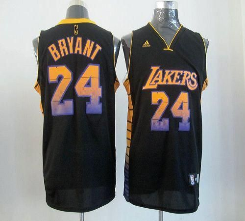 060130b2c889 Lakers  24 Kobe Bryant Black Embroidered NBA Vibe Jersey! Only  25.50USD