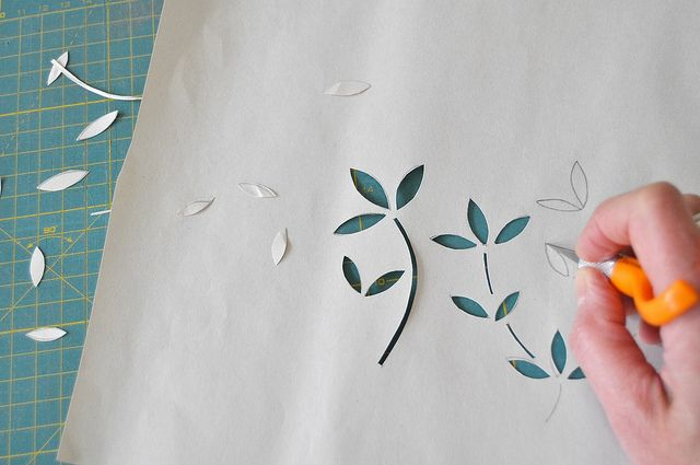 11+ Stencil printing on paper inspirations