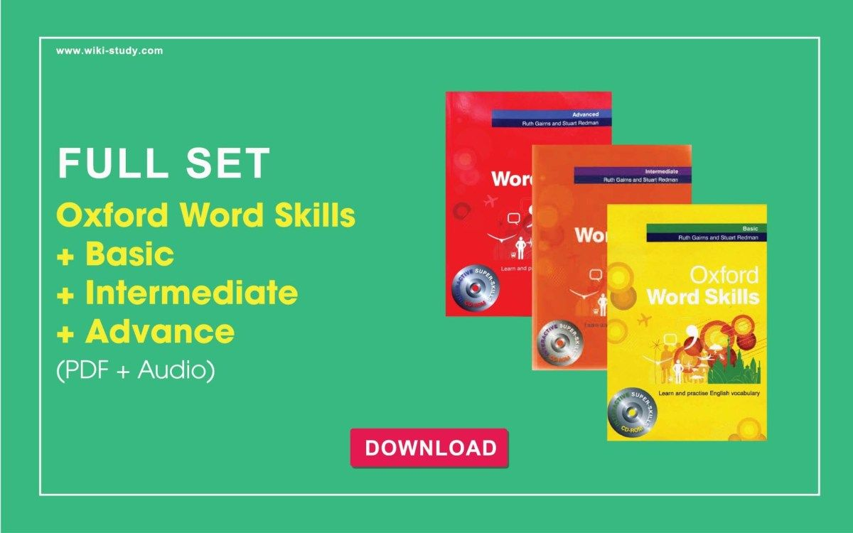 Oxford Word Skills Basic Intermediate Advanced Set Pdf Audio Word Skills Good Vocabulary Words