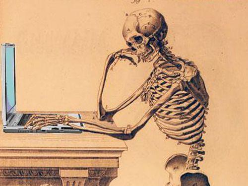 Resultado de imagem para esqueleto esperando