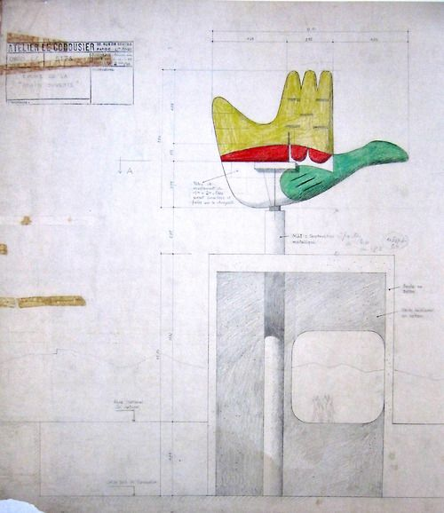 1950s, Le Corbusier: The Open Hand Monument in Chandigarh, India.
