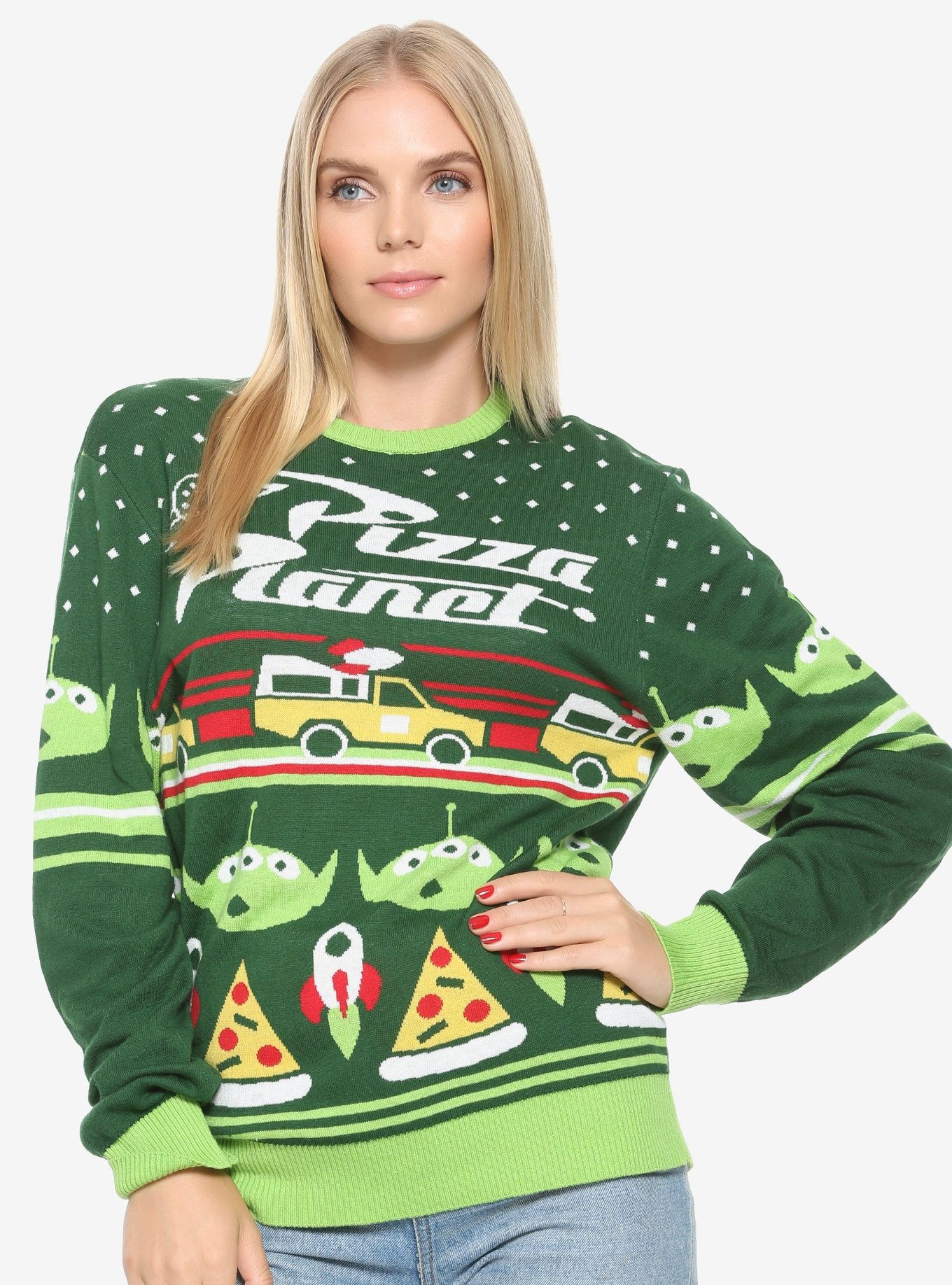 Disney Pixar Toy Story Pizza Holiday Sweater