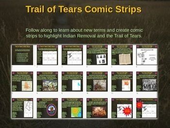 Trail of Tears  Indian Removal Bundle Comic  Map Activity