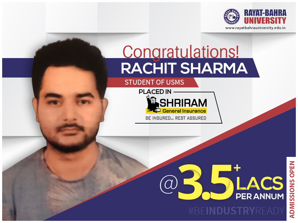 Beindustryready Rachit Sharma A Student Of University School Of