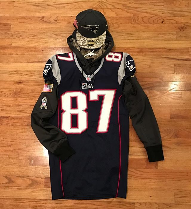 brand new 200fb 014d0 Game day outfit: 2014 Game Issued Gronk Jersey 2016 Salute ...