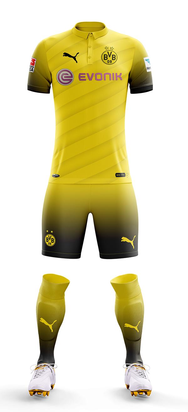 Borussia Dortmund Concept Home Kit 2018-2019 on Behance | Cycling ...