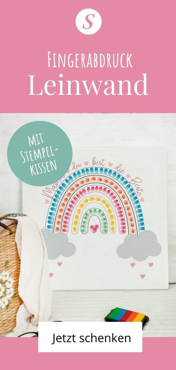 Kreatives Geschenk von Kinder an Mama: Fingerabdruck Poster oder Leinwand