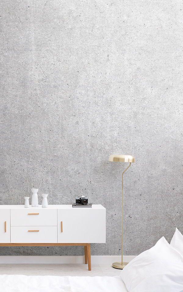 Papier Peint Fresque Béton Rustique Pinterest Grey bedroom