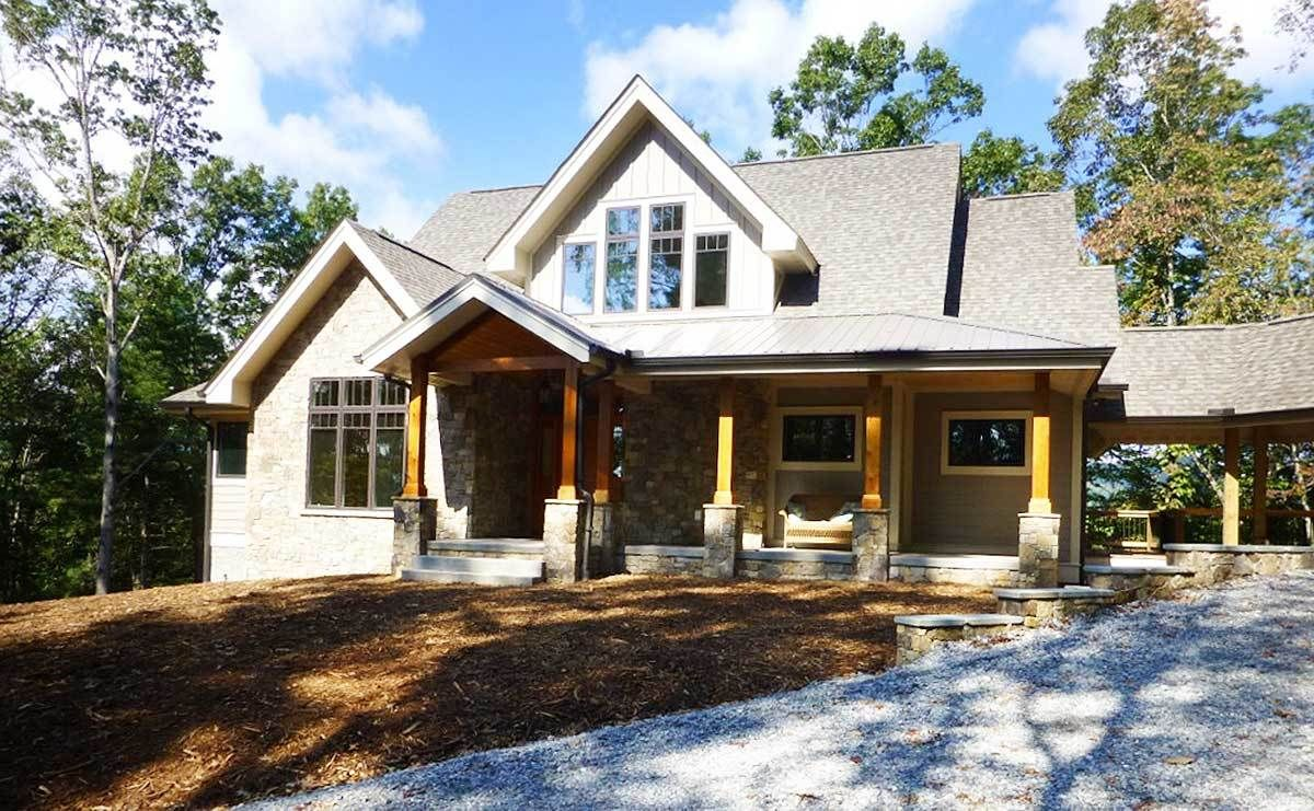 Plan 26706gg Rugged Mountain Plan With Breezeway Mountain House Plans Basement House Plans Architectural Design House Plans