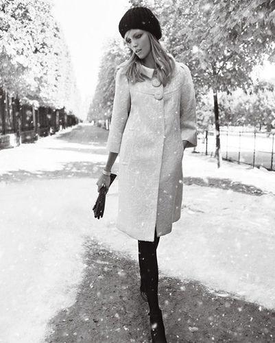 White coat in winter = love!!!