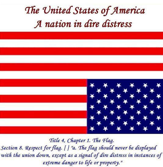 Upside Down American Flag Distress Sos Sos