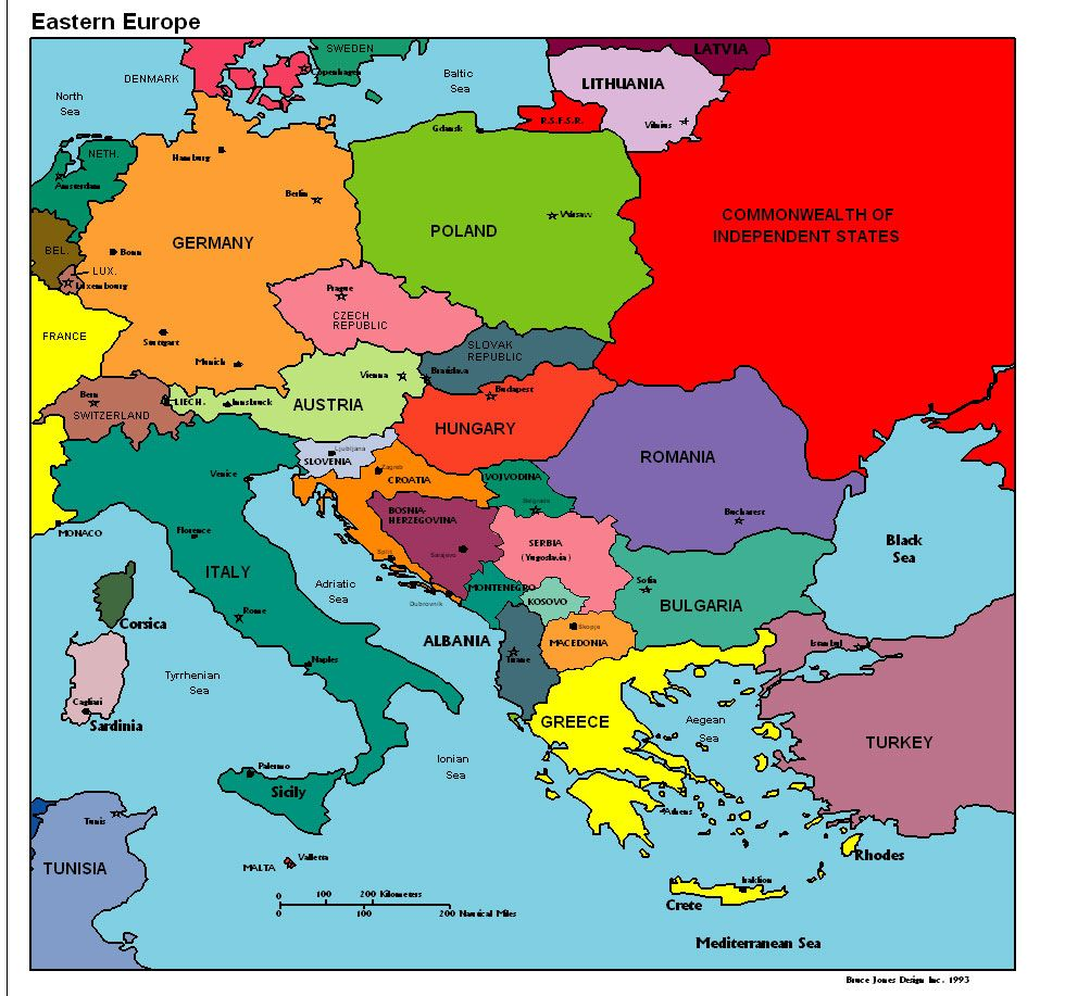 Eastern Europe Political Map Vacations In Eastern Europe - Map of europe countries