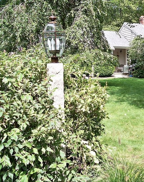 Nh Grey Granite Lamp Post Rock 4 Sides Grey Granite Lamp Post Granite