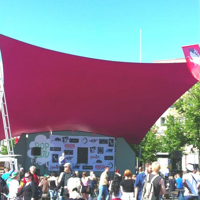 Joensuun Popkatu avattu. #Ilosaarirock2012