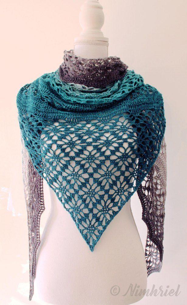 Triangular Shawl Crochet Free Pattern Maestrale Crocheting