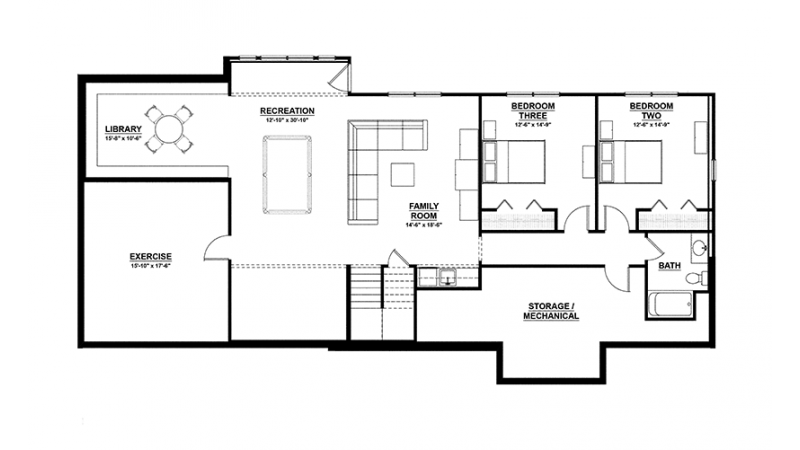 Ranch Style House Plan 3 Beds 2 5 Baths 3588 Sq Ft Plan 928 2 Ranch Style House Plans Ranch Style Homes Floor Plans Ranch