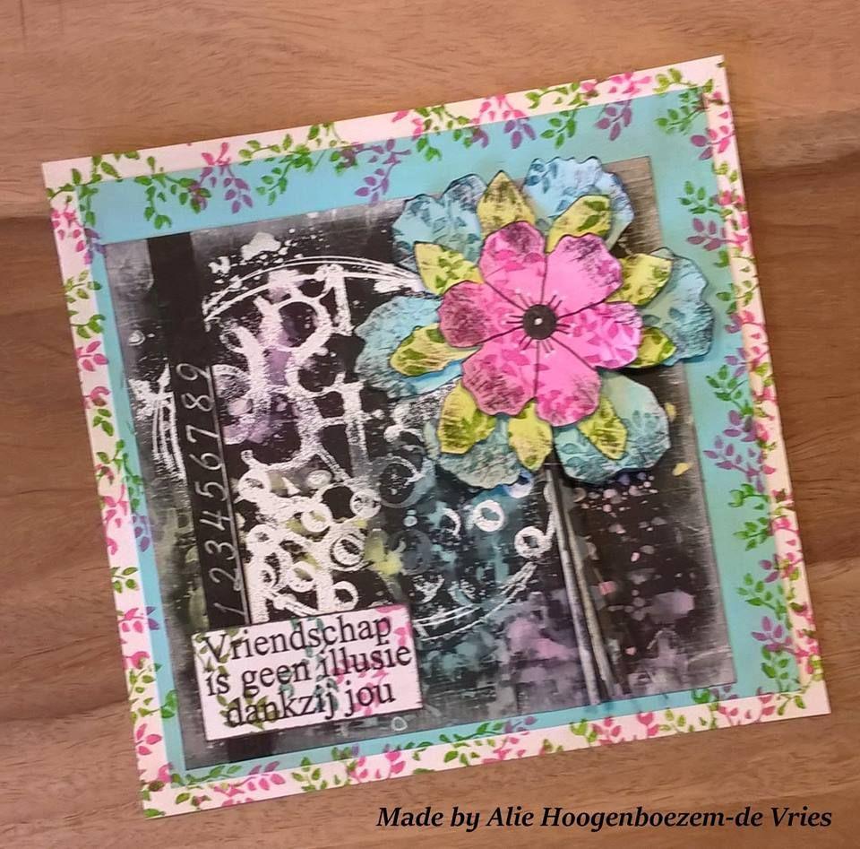 Mixed media card made by Alie Hoogenboezem-de Vries
