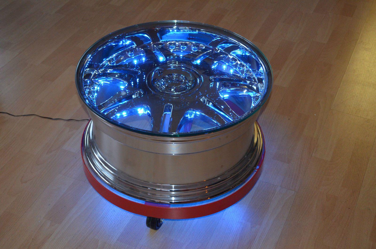 Felgentisch beleuchtet Felgen Reifen Tisch V8 Motortisch Zapfsäule ...