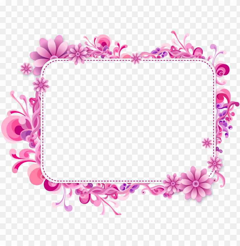 Ink And Purple Vector Frame Girly Border Png Image With Transparent Background Png Free Png Images Clip Art Borders Frame Girly