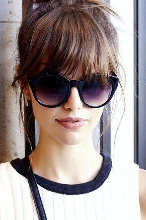 Second Sight Black Sunglasses Peinados Pinterest Pony Frisur