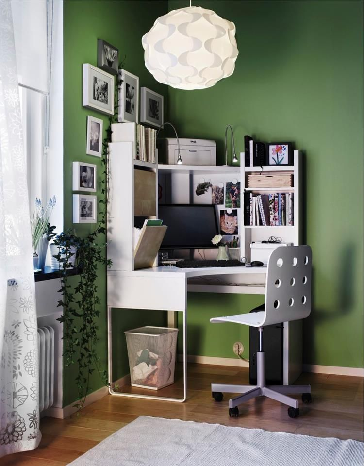 I Want This Desk For Our Room In The New House Ikea Home Office Furniture Home Office Design Ikea Corner Desk