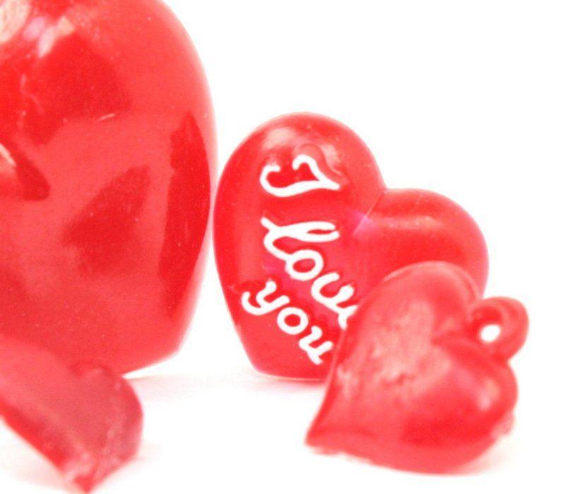 Tiny German Imports Tiny Love Flatback Hearts Set of 12