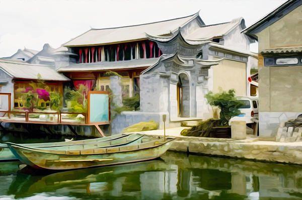 I uploaded new artwork to fineartamerica.com! - 'Houses By The River' - http://fineartamerica.com/featured/houses-by-the-river-lanjee-chee.html via @fineartamerica