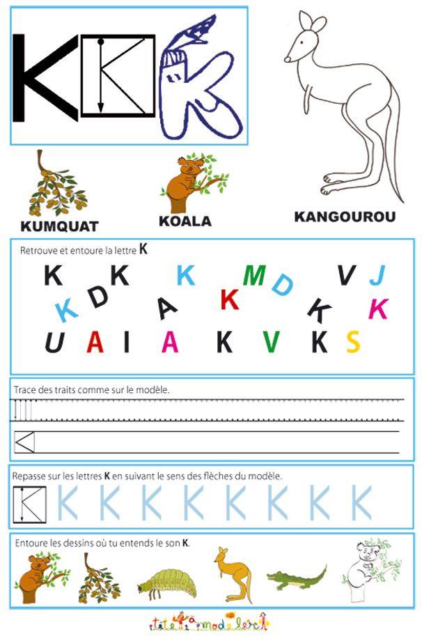 Livre de lecture et d 39 criture des grandes lettres pour la - Alphabet francais maternelle ...