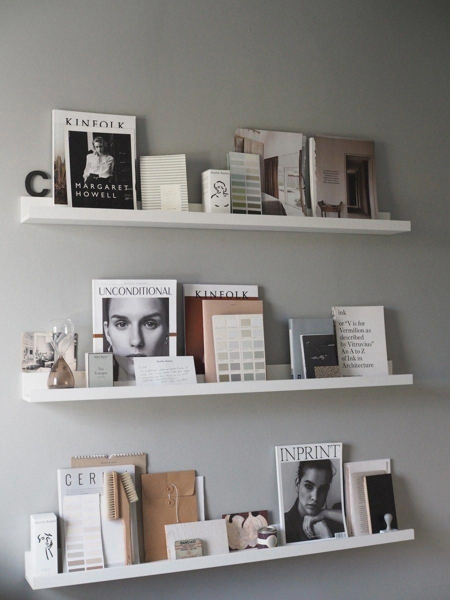 Ikea Mosslanda Picture Ledges To Display Art And Books A Cosy