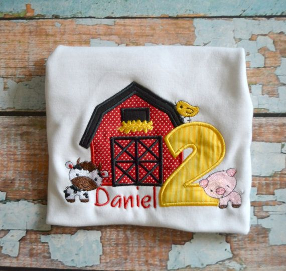 Barnyard farm birthday shirt