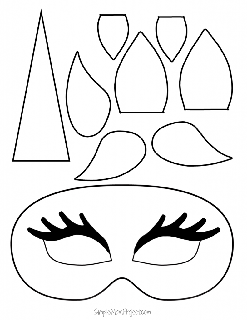 Click on this post for diy free printable unicorn mask templates watch your kids masquerade in their customized unicorn coloring page