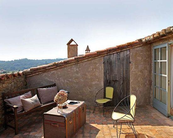 Terraza En El Tejado Vivienda Rustica Casas Rurales Terraza Casa